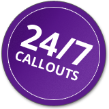 24/7 callouts within Hereford, Worcester and Gloucester